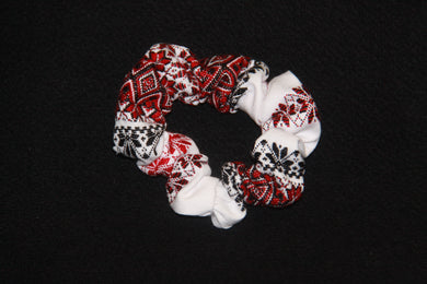 Red Woven Scrunchie