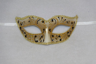 Masquerade Mask Black & Gold