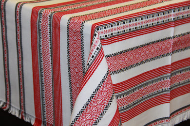 Red Woven Tablecloth 59