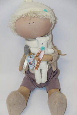 Soft Fabric Doll with teddy
