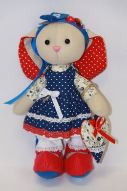 Blue Soft Rabbit Doll