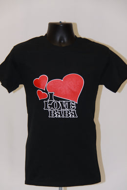 I Love BABA T-Shirt- Black