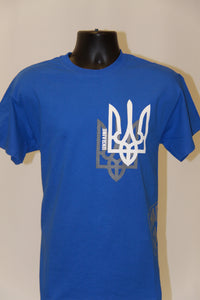 Shadow Tryzub T-Shirt- Royal Blue