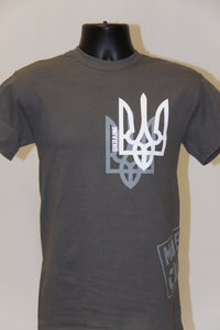Shadow Tryzub T-Shirt- Charcoal Grey