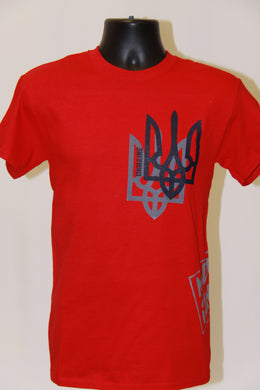 Shadow Tryzub T-Shirt- Red