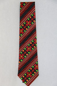 Red & Green Embroidered Neck Tie