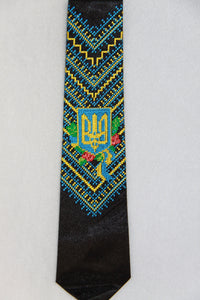 Tryzub Embroidered Neck Tie