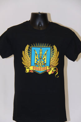 Ukraine Wheat T-Shirt- Black