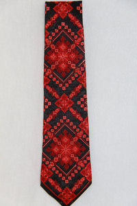 Red Embroidered Neck Tie