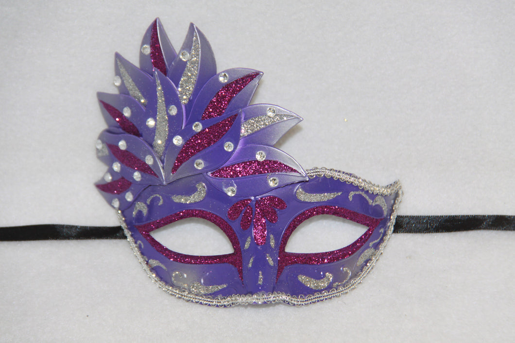 Masquerade Mask Venetian Leaf Purple