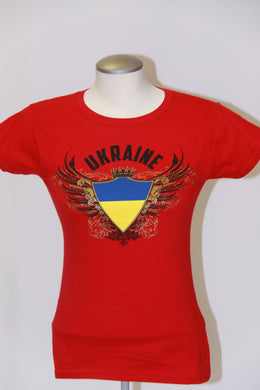 Ladies Ukraine Coat of Arms- Red