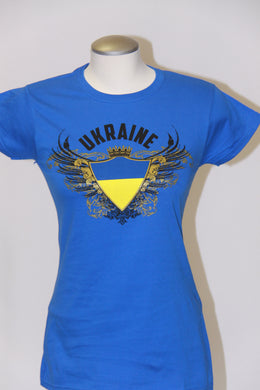 Ladies Ukraine Coat of Arms- Royal Blue