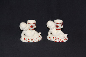 Cherub Candle Holder Set