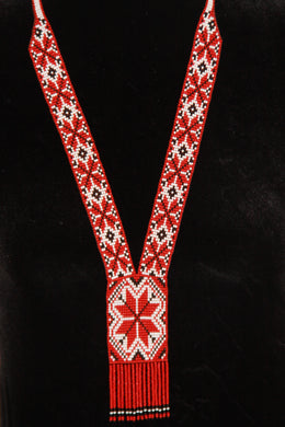 White & Red Star Gerdan Necklace
