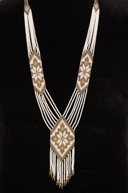 White & Gold Star Gerdan Necklace