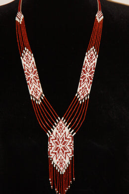 Red & White Star Gerdan Necklace