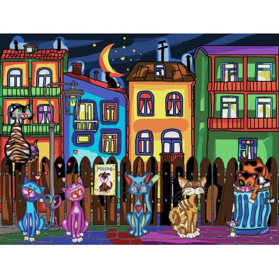 Cats Night Out- 1000 PC