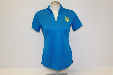 Ladies Tryzub Golf Shirt Blue Wake