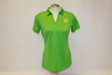 Ladies Tryzub Golf Shirt Turf Green