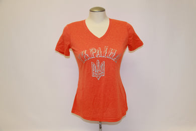 Ladies Liquid Silver Deep Orange
