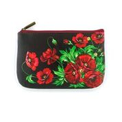 Load image into Gallery viewer, Ukrainian Poppy Flower Print Small Pouch