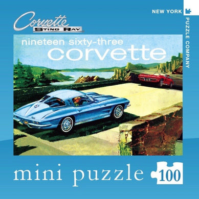 1963 Corvette- 100 pc mini puzzle