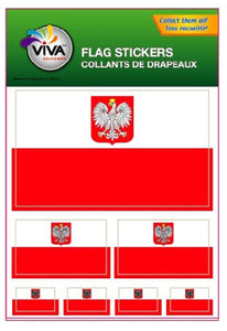 Poland flag stickers