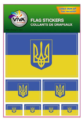 Ukraine Flag Stickers