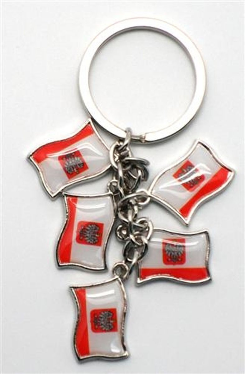 Poland charm key chain