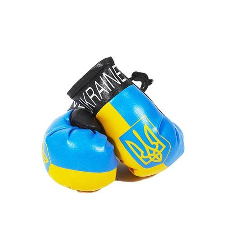 Ukraine Boxing Gloves with Tryzub