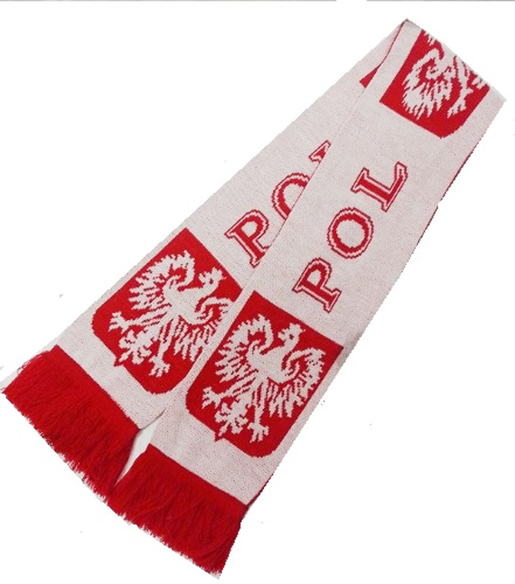 Poland knitted scarf