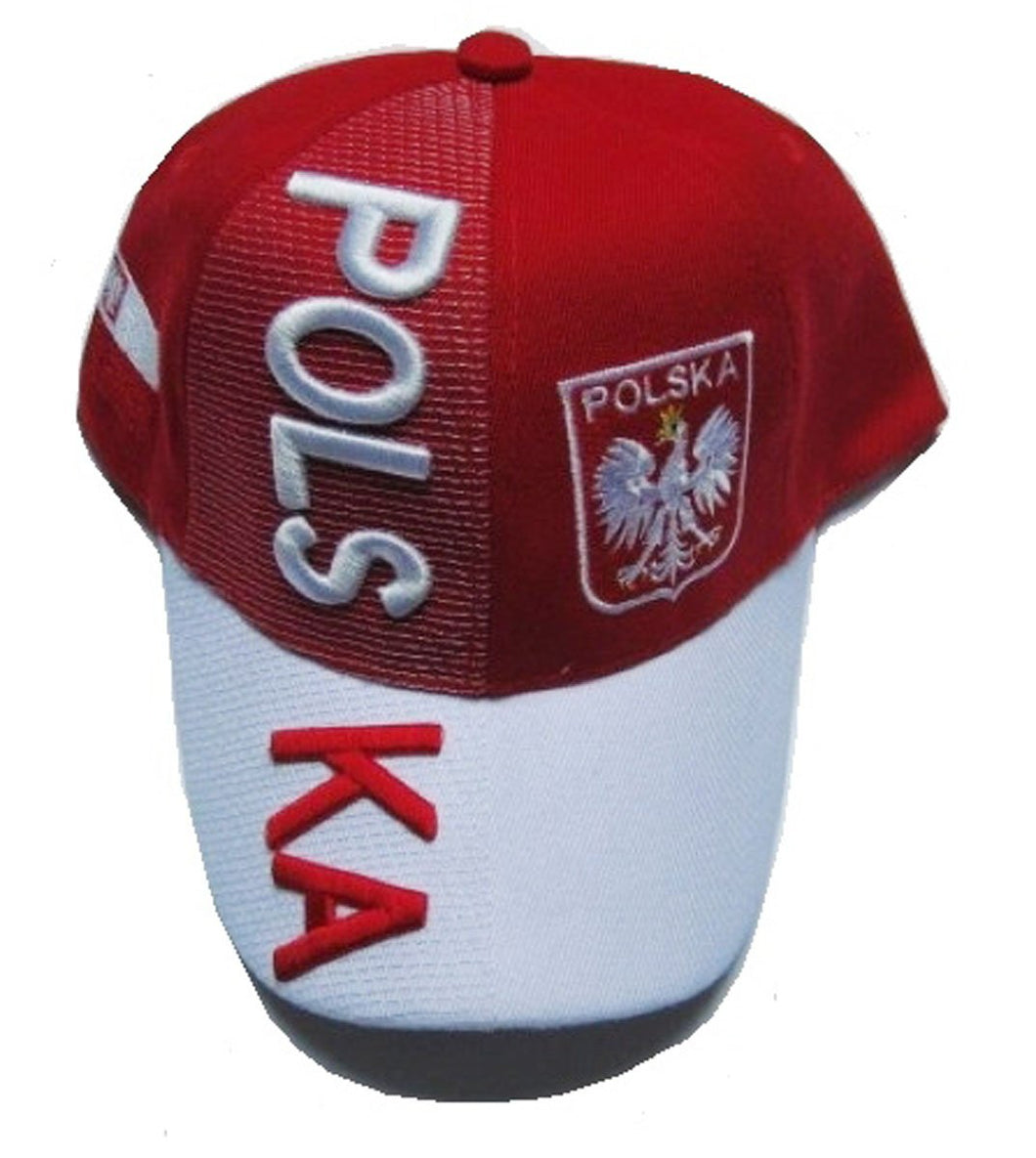 Poland 3D embroidered cap