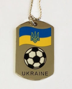 Ukraine Soccer Dog Tag