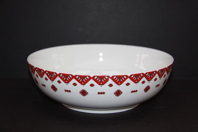 medium round serving bowl traditional