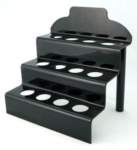 12 Egg Lucite Step Stand- Black