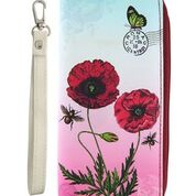 Large Red Poppy Wallet