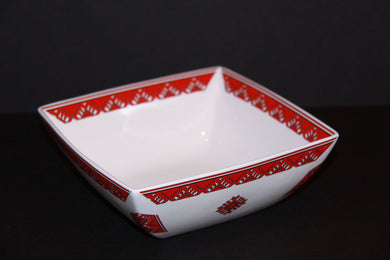 small square serving bowl