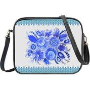 Ukrainian Petrykivka style flower print cross body bag/toiletry bag