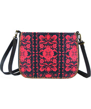 Load image into Gallery viewer, Ukrainian flower embroidery pattern cross body bag