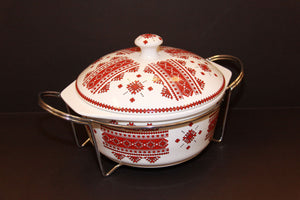 extra large round casserole with rack
