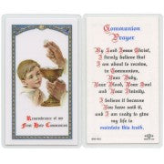 Communion Prayer Boy- Prayer Card