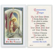 Communion Prayer Girl - Prayer Card
