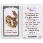 Communion Prayer Girl -Prayer Card