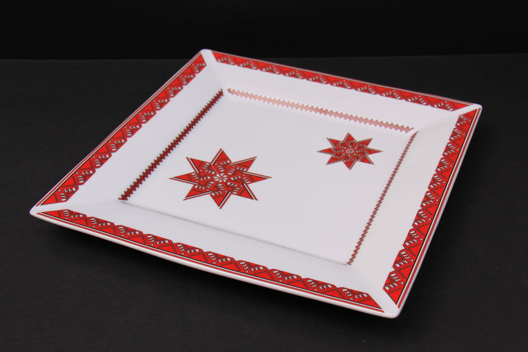 square holiday platter