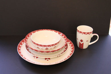 traditional 5pc porcelain dish set