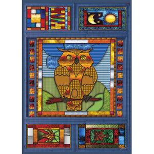 Stained Glass Owl- 1000 PC