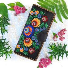 Load image into Gallery viewer, Polska Flower Slim Wallet