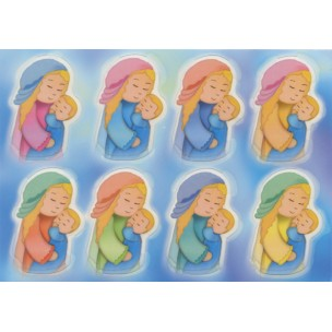 Mother and Child Glow in the Dark Stickers