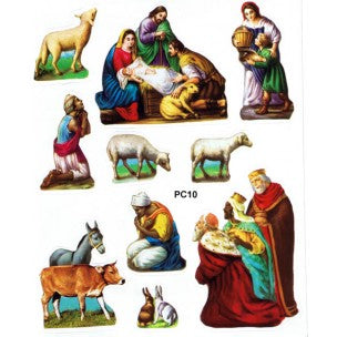 Nativity 10 Stickers