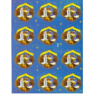 Nativity 12 Stickers